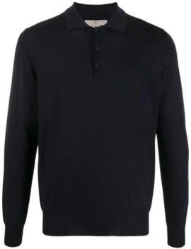 Langärmeliges Poloshirt by Canali