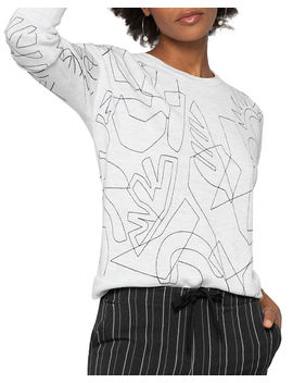 Embroidered Long Sleeve Sweater by Nic+Zoe