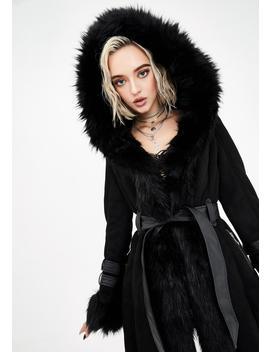 Black Yukon Fur Coat by Azalea Wang