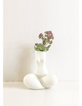 Andrea Kollar Gabriela Vase In White by The Frankie Shop
