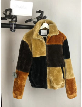 Urban Outfitters Faux Fur Patchwork Coat S by Urban Outfitters  ×