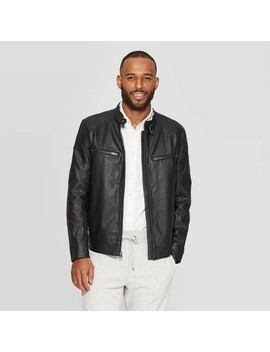 Men's Midweight Faux Leather Jacket   Goodfellow & Co™ by Goodfellow & Co