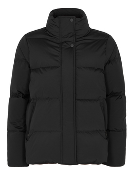 Black Quilted Shell Jacket by Woolrich