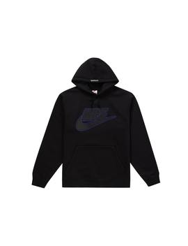 Supreme Nike Leather Applique Hooded Sweatshirt Black by Stock X