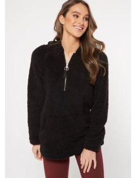 Tan Sherpa Half Zip Pullover by Rue21