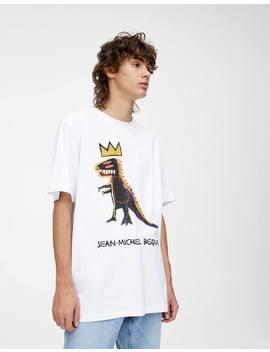 T Shirt Basquiat Dinosaurietryck by Pull & Bear