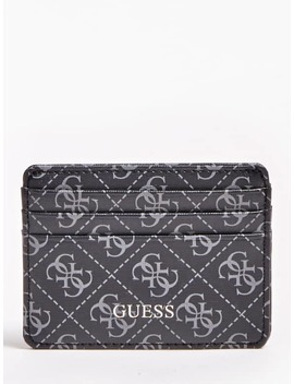 Manhattan All Over Logo Card Holder by Guess