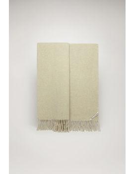 Oversized Wool Scarf Wheat Beige Melange by Acne Studios