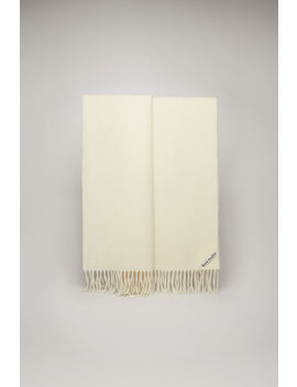 Oversized Wool Scarf White by Acne Studios