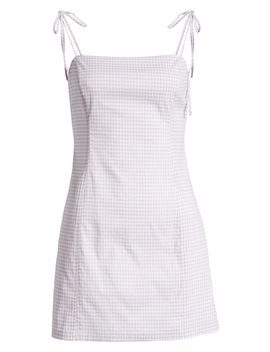 Gingham Minidress by All In Favor