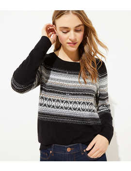Studded Sequin Fairisle Sweater by Loft