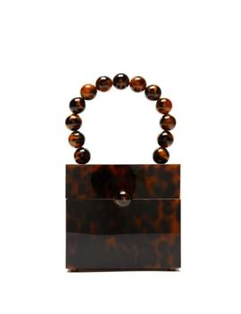 Cult Gaia Eos Box Tortoiseshell And Gold Toned Hardware Nwt by Cult Gaia