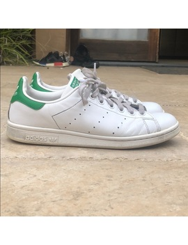 Adidas Stan Smith White & Green Shoe by Adidas