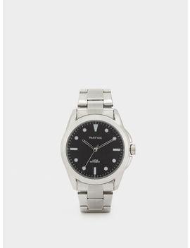 Relógio Bracelete Em Aço by Parafois