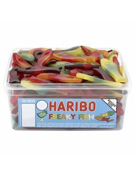 Haribo Freaky Fish Sweets   120 In Tub   Perfect Party Bag Filler Wedding Favour by Ebay Seller
