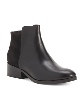 Leather Comfort Booties by Tj Maxx