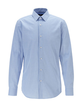 Slim Fit Stretch Cotton Dress Shirt by Boss Slim Fit Stretch Cotton Dress Shirt