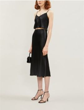 Beau Cropped Silk Satin Co Ord by Reformation