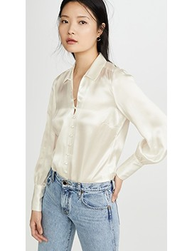 Naomi Button Loop Blouse by L'agence