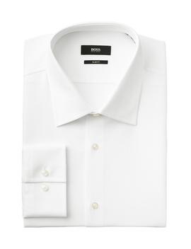 Slim Fit Textured Dress Shirt by Boss Slim Fit Textured Dress Shirt