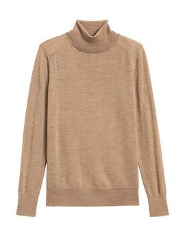 Petite Washable Merino Turtleneck Sweater by Banana Republic