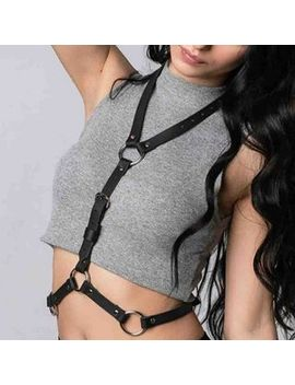 Surelin   Faux Leather Punk Body Harness Lingerie Costume by Surelin