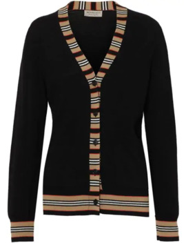 Icon Stripe Cardigan by Burberry