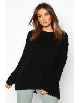 Oversized Teddy Knitted Jumper by Boohoo