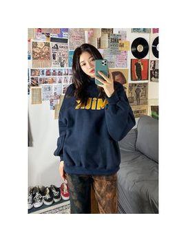 "Chuu   ""Strawberry Milk"" Oversize Letter Sweatshirt by Chuu"
