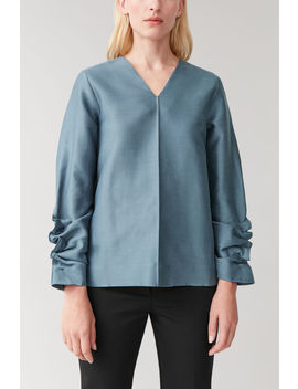 Gathered Sleeved Top by Cos