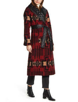 Merrill Wool Blend Long Coat by Pendleton