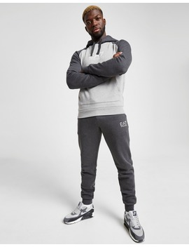 Emporio Armani Ea7 Colour Block Hooded Fleece Tracksuit by Jd Sports