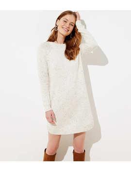 Marled Shirttail Sweater Dress by Loft