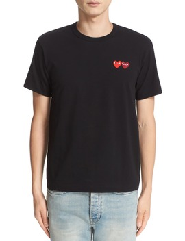 Twin Hearts Slim Fit Jersey T Shirt by Comme Des GarÇons Play