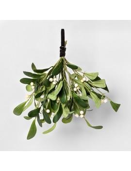 """11"""" Faux Mistletoe With Black Velvet Ribbon   Hearth & Hand™ With Magnolia by Hearth & Hand With Magnolia"""