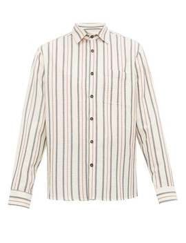 Striped Seersucker Cotton Shirt by King & Tuckfield