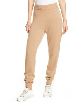 Whipstitch Detail Cashmere Jogger Pants by Theory