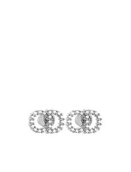 Orecchini Clair D Lune Con Cristalli Bianchi E Finitura Palladio by Dior
