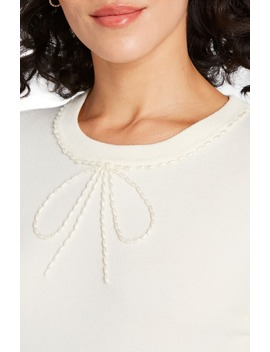 Bow Beaded Sweater by Modcloth