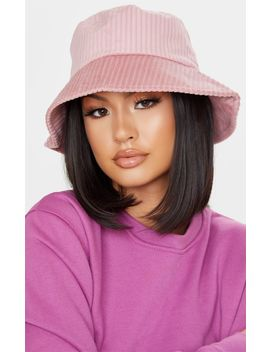 Pink Cord Effect Bucket Hat by Prettylittlething