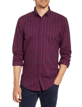 Wallace Trim Fit Plaid Flannel Button Down Performance Shirt by Mizzen+Main