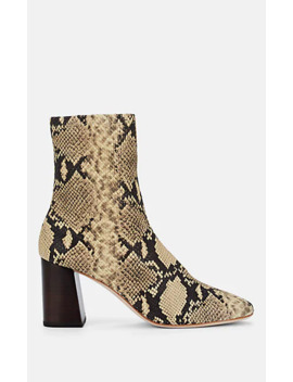 Elise Snakeskin Stamped Leather Ankle Boots by Loeffler Randall