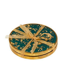 Gold Fleck Coaster Set by Monsoon