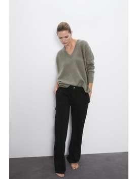 Oversized V Neck Cashmere Sweater by Zara