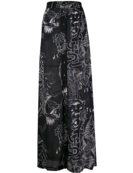 Printed Button Up Skirt by Diesel