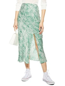 Print Midi Skirt by Topshop