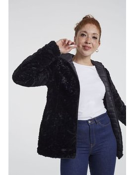 Point Zero Reversible Faux Fur Jacket by Long Tall Sally