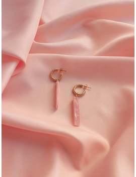 PrÉ Commande · Boho Stones X Tycia · Boucles D'oreilles Roses, Plaqué Or · Collection Capsule by Etsy