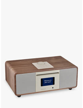 John Lewis & Partners Cello Hi Fi Music System With Dab/Dab+/Fm/Internet Radio, Cd Player, Wi Fi & Bluetooth, Walnut by John Lewis & Partners