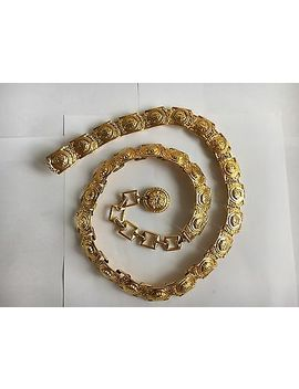 Rare Authentic Gianni Versace Gold Tone Chain Belt by Versace